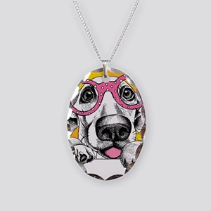 Hipster Dog Necklace