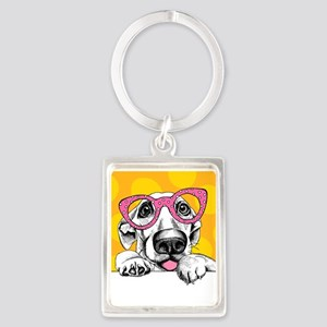 Hipster Dog Keychains