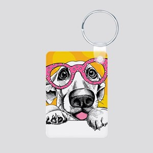 Hipster Dog Keychains