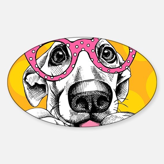 Hipster Dog Decal