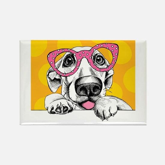 Hipster Dog Magnets