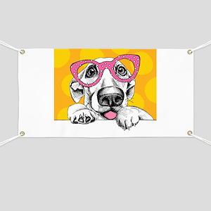 Hipster Dog Banner