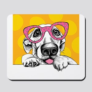 Hipster Dog Mousepad