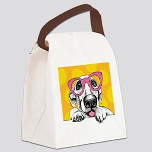 Hipster Dog Canvas Lunch Bag