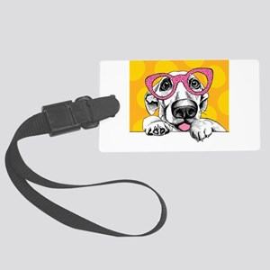 Hipster Dog Luggage Tag