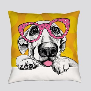Hipster Dog Everyday Pillow