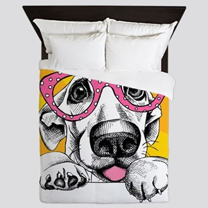 Hipster Dog Queen Duvet