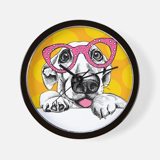 Hipster Dog Wall Clock