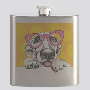 Hipster Dog Flask
