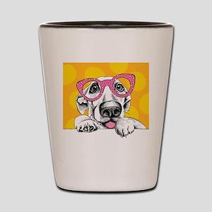Hipster Dog Shot Glass