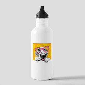 Hipster Dog Water Bottle