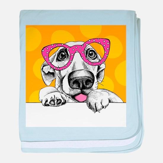 Hipster Dog baby blanket