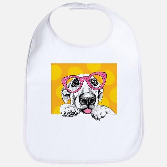 Hipster Dog Bib