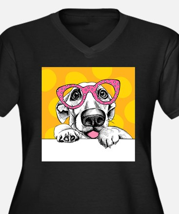 Hipster Dog Plus Size T-Shirt