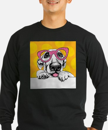Hipster Dog Long Sleeve T-Shirt
