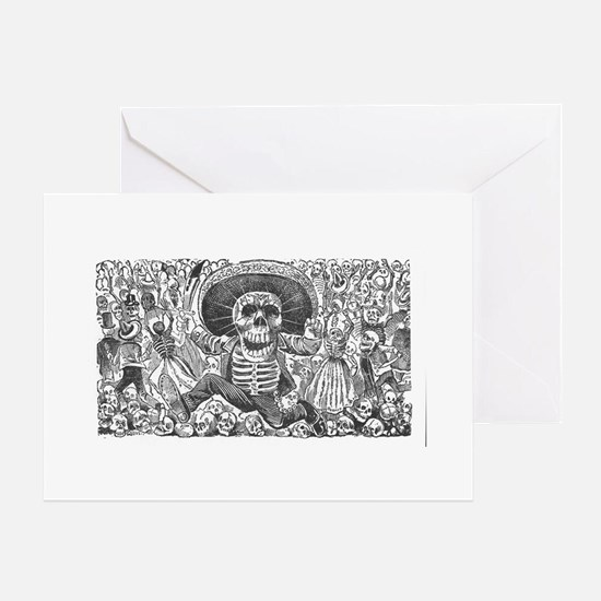 Skull from Oaxaca by Posada Greeting Card