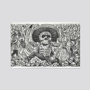 Skull from Oaxaca by Posada Rectangle Magnet