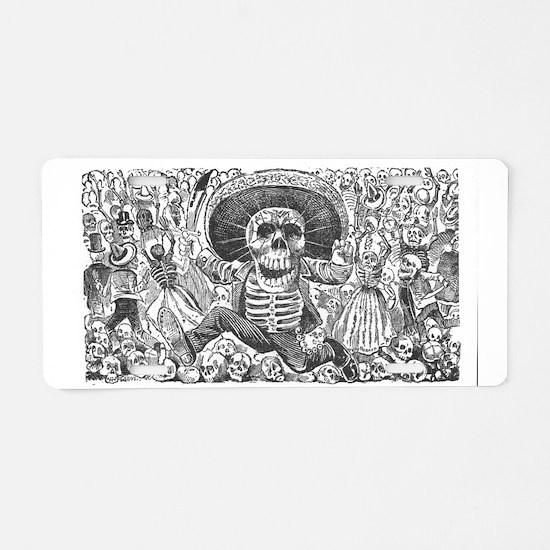 Skull from Oaxaca by Posada Aluminum License Plate