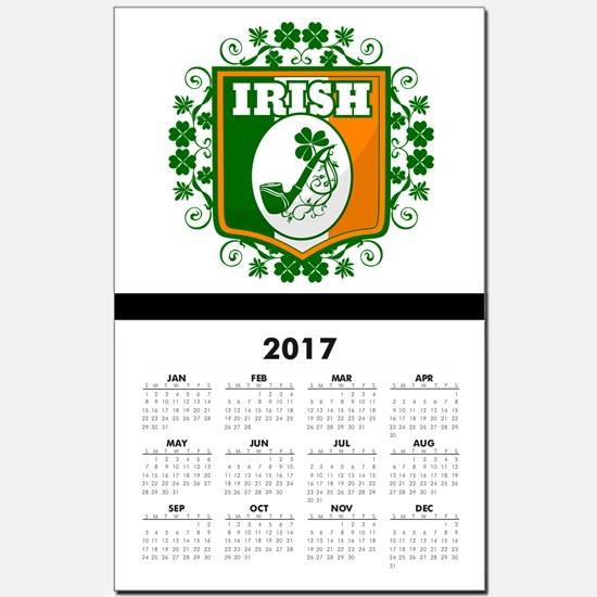 St Patricks Day Pipe Calendar Print