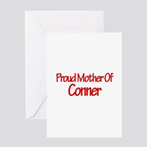 Proud Mother of Conner Greeting Card