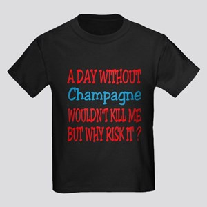 A day without Champagne Kids Dark T-Shirt