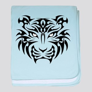 Tiger tattoo art baby blanket