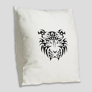 Tiger tattoo art Burlap Throw Pillow
