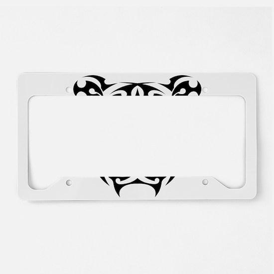 Tiger tattoo art License Plate Holder