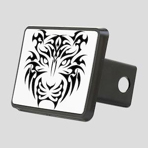 Tiger tattoo art Rectangular Hitch Cover