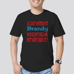 A day without Brandy Men's Fitted T-Shirt (dark)