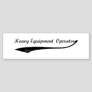 Heavy Equipment Operator (vi Bumper Sticker