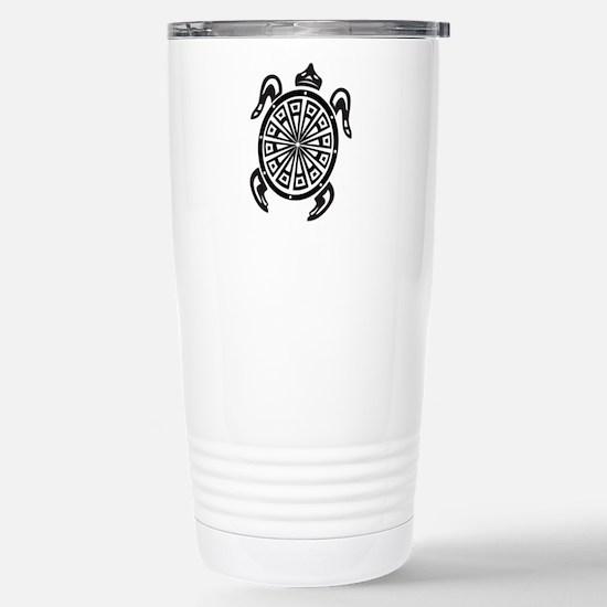 Decorative turtle line Stainless Steel Travel Mug