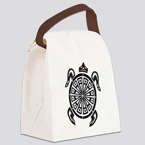 Decorative turtle line art Canvas Lunch Bag