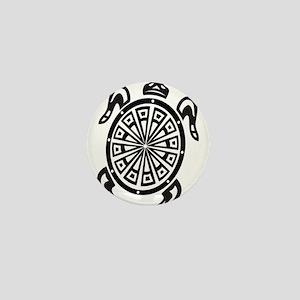 Decorative turtle line art Mini Button