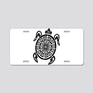 Decorative turtle line art Aluminum License Plate