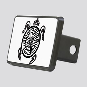 Decorative turtle line art Rectangular Hitch Cover