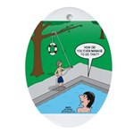 Life Saving Oval Ornament