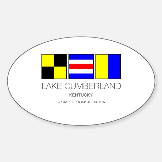 Lake Cumberland Kentucky Nautical Flag Decal