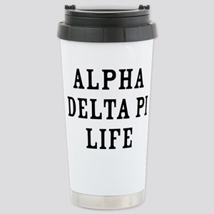Alpha Delta Pi Li 16 oz Stainless Steel Travel Mug
