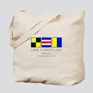 Lake Cumberland Kentucky Nautical Flag Tote Bag