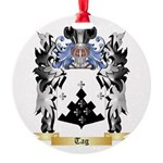 Tag Round Ornament