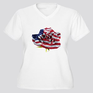 American Rose Plus Size T-Shirt