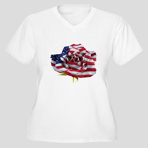 American Rose Plus Size T-Shirt