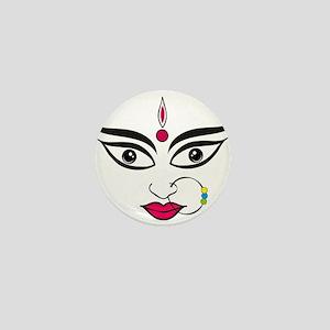 Durga face Indian festival dussehra ca Mini Button