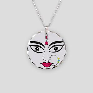 Durga face Indian festival d Necklace Circle Charm