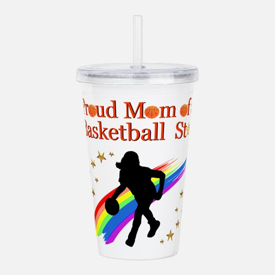 BASKETBALL MOM Acrylic Double-wall Tumbler
