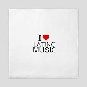 I Love Latino Music Queen Duvet