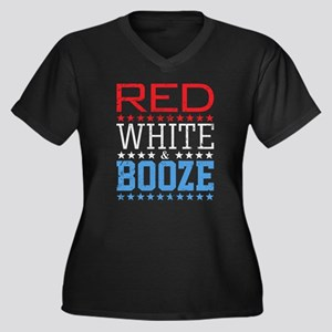 Red White And Booze Plus Size T-Shirt