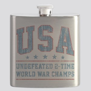 USA World War Champs Flask