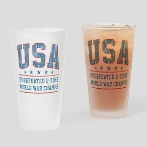 USA World War Champs Drinking Glass